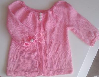 小女孩小开衫毛衣,太让人喜欢了,附详细编织教程_猪友之家