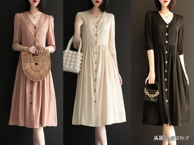 毛线连衣长裙