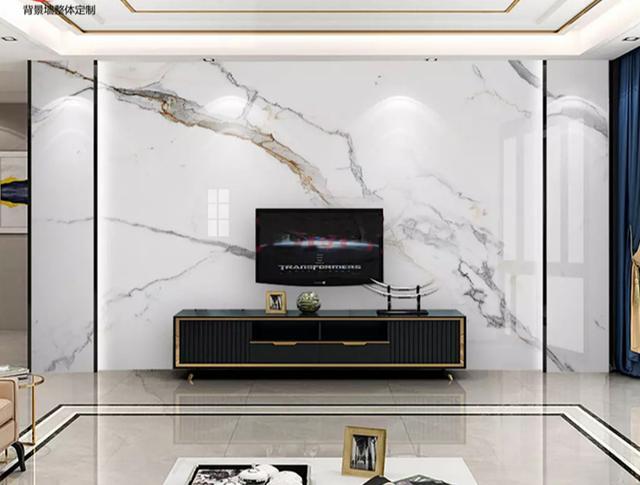 一大波客厅背景墙实景图,附上设计尺寸,装修用得上!