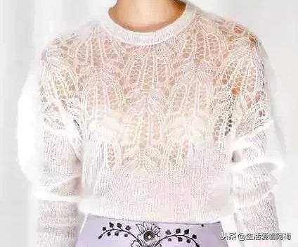分享17款手工编织的秋冬毛衣,每一款都很美,图三附编织教程