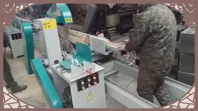 圆木推台锯制作