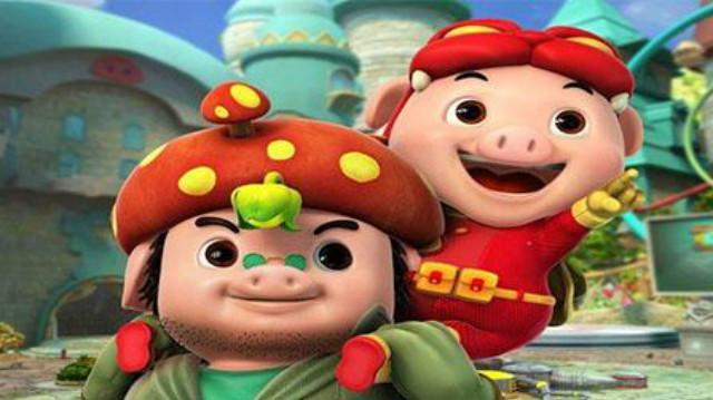 猪猪侠之五灵守卫者:猪猪侠成功召唤铁拳虎,五灵守卫者正式成立