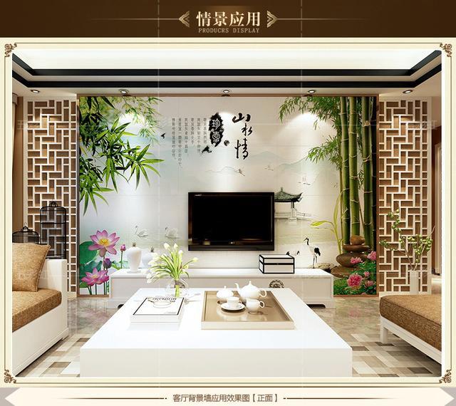 客厅电视墙高清效果图