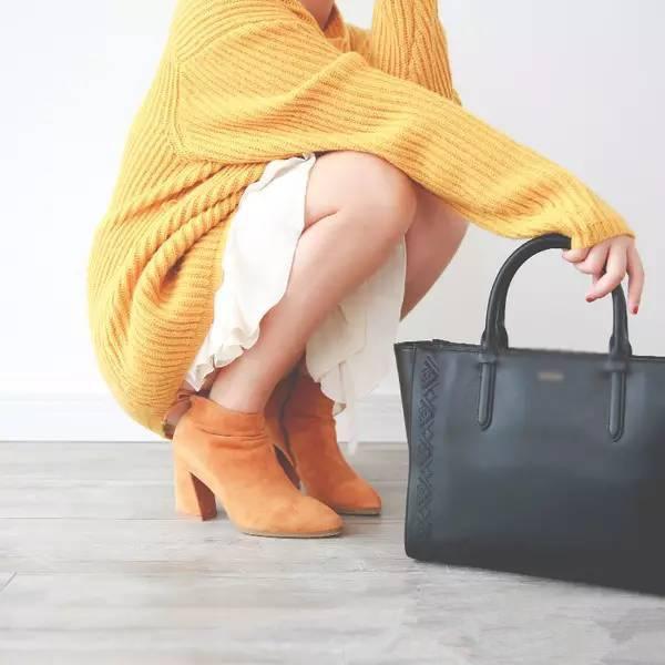 短靴女春秋单靴2019秋冬季新款真皮方头尖头粗跟高跟弹力瘦瘦靴子
