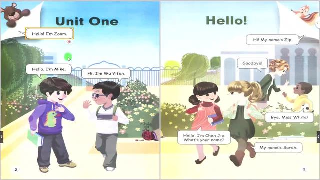 三年级英语上册第一单元单词及课文_美篇
