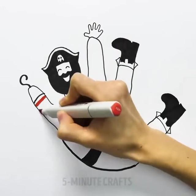 怎么画手的简笔画 - 简笔画 - 懂得