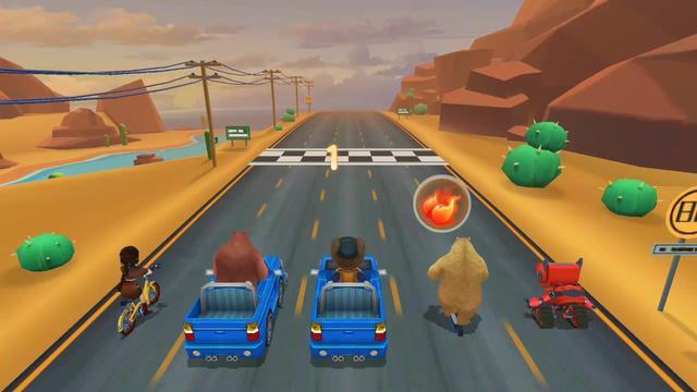 光头强的新赛车真酷呀!熊大熊二很是羡慕呢!游戏