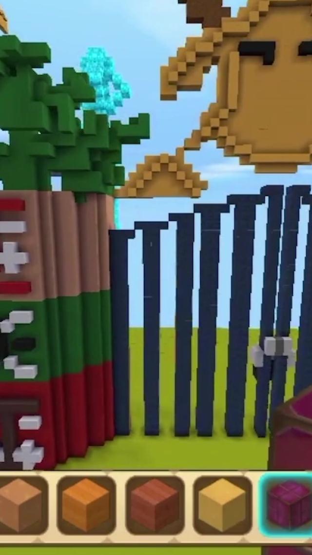 迷你世界:一分钟教你制作学校滑动铁门教学