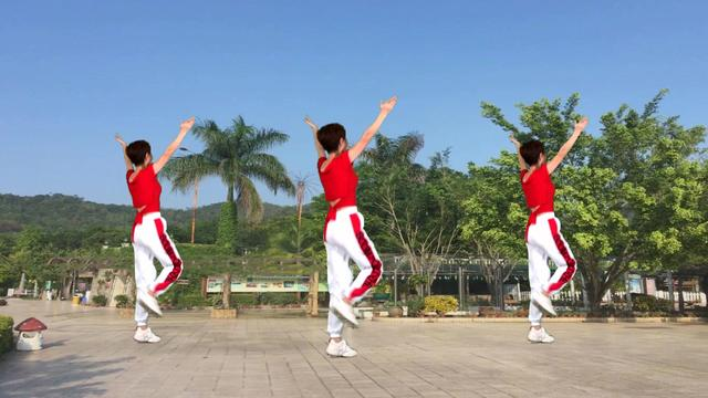 跳广场舞大妈图片