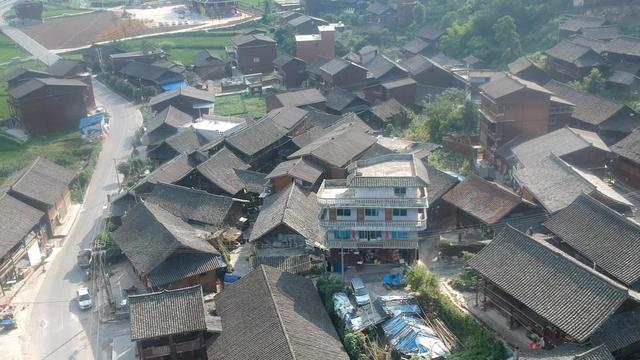 湘西苗寨速写风景