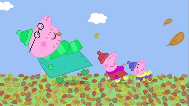 猪爸爸偷吃鸡腿被猪妈妈发现了