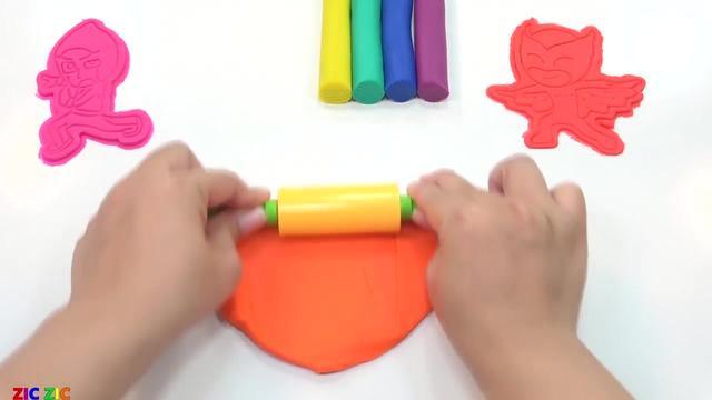 解压益智手工,教你用橡皮泥做7个颜色的可爱卡通图贴