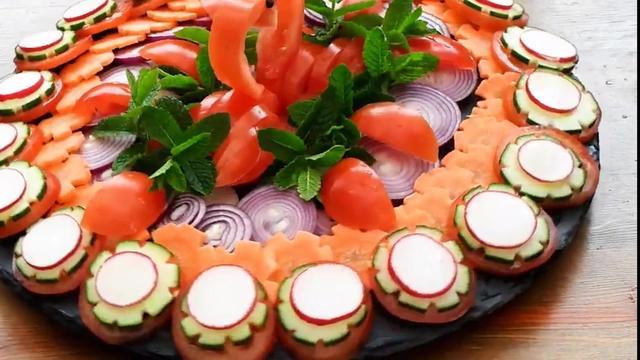 盘子蔬菜 简单蔬菜拼盘200种-元珍商城