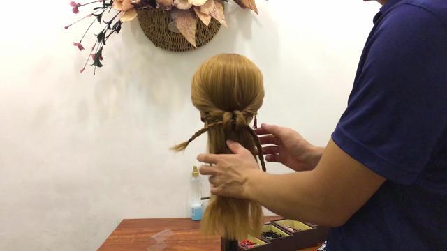 学习简单半披发型扎法 让你充满公主的气息_简单半披发型扎法...