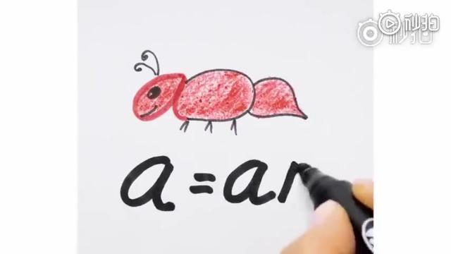 大家都在找的26个英文字母简笔画,孩子画画至于还能背单词喔~