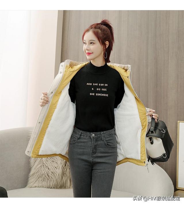 女式短款 棉衣