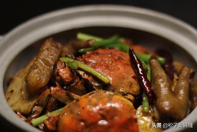 砂锅螃蟹怎么做?