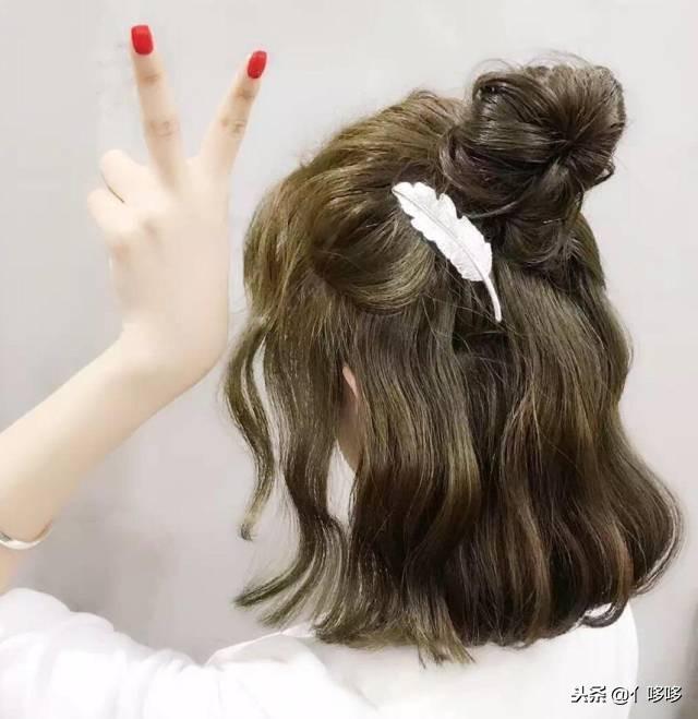 短发过渡长发怎样打理 微裸后颈的中长发型让你清纯又性感-最...