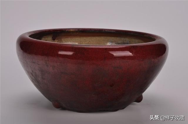 元代祭红釉瓷器图片