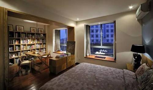 书房兼卧室装修设计效果图_学习啦在线学习网