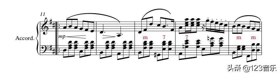 老人快速学手风琴