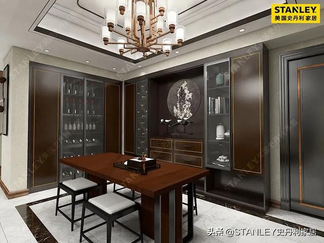 青岛新中式风格酒馆设计效果图