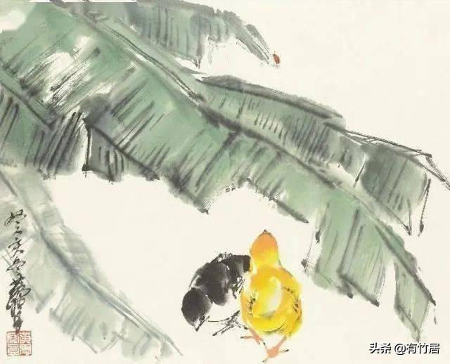 芭蕉叶国画写意图片