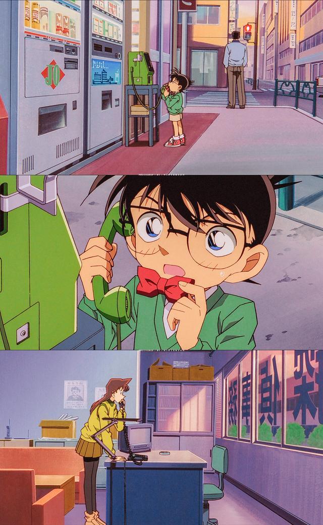 手机高清壁纸 动漫名侦探柯南 扎心情感短句