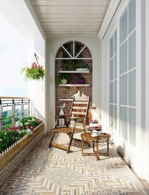阳台砖这样贴,好看又实用
