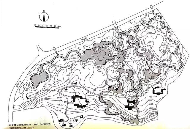 自然式园林平面图