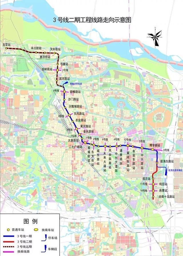 郑州地铁3号线站点有哪些