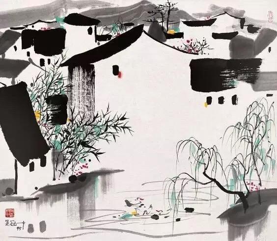 听说你不会画竹子?来看看吴冠中大师画的国画竹子,非常有意境
