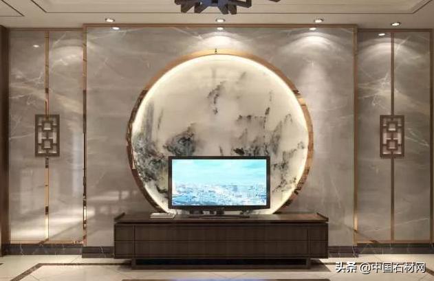 38款新中式大理石背景墙,古色古香,唯美意境