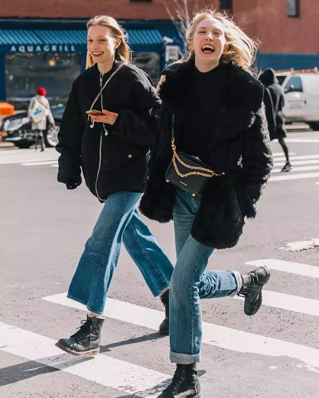 短款外套搭配阔腿裤,微胖女生也能秒变女神,值得收藏_新浪看点