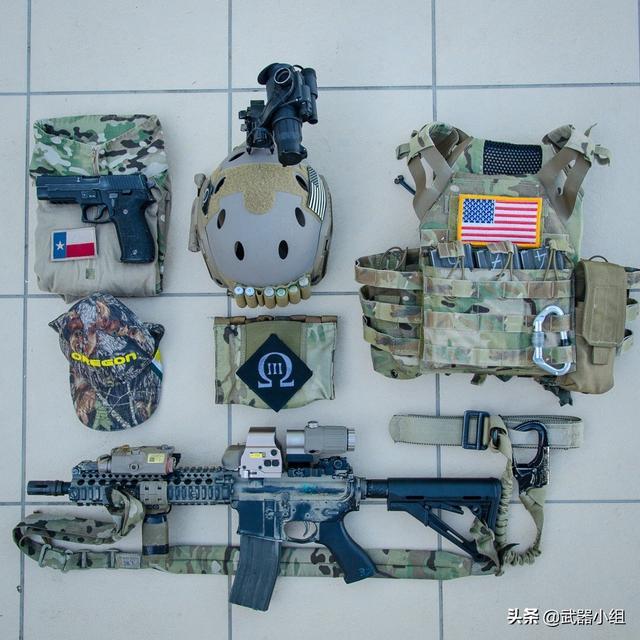 美军作战部队的单兵装备,看看这些武器搭配是执行什么任务使用的