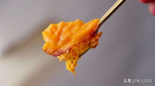 2块南瓜,1个鸡蛋,教你懒人南瓜蛋糕的做法,吃了不用担心会长胖