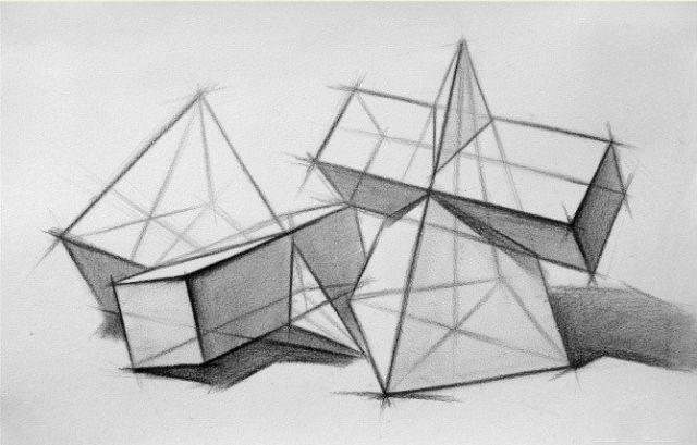 学习素描素描石膏几何体教案_素描 静物油画零基础教学视频