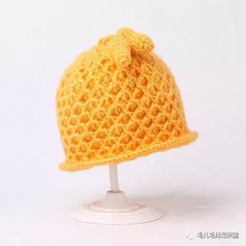树叶帽子编织花样图解