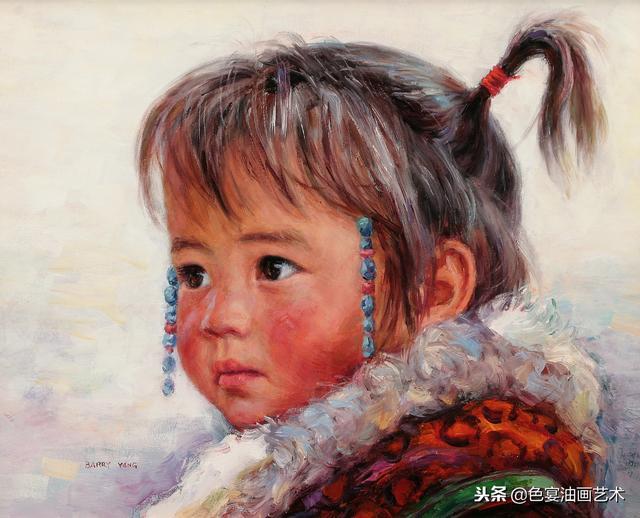 美丽的山川简单的油画风景画图片大全 - 5068儿童网