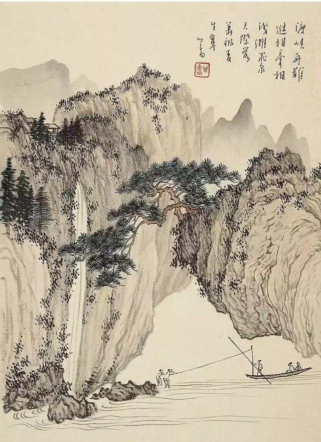 简单绘画-用铅笔素描的方式快速画出一幅山水图
