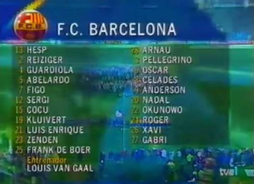 只有游戏中才会出现!21年前巴萨对阵巴西,一场不可复制的比赛