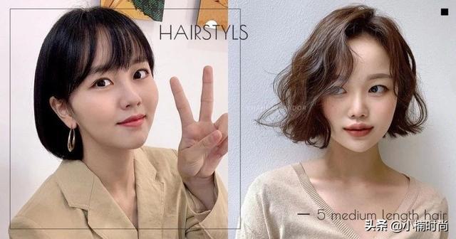 这5款韩国正夯的中短发发型,搭配不同卷度瘦脸效果超好