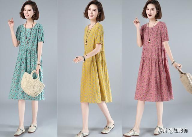 4款夏季常见的连衣裙,碎花清新格纹经典,做个精致的小仙女吧