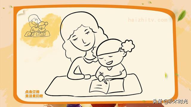 母亲节儿童画范画