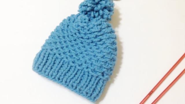 两款可爱彩色粗毛线帽子织法图解_帽子_服装服饰_爱靓网