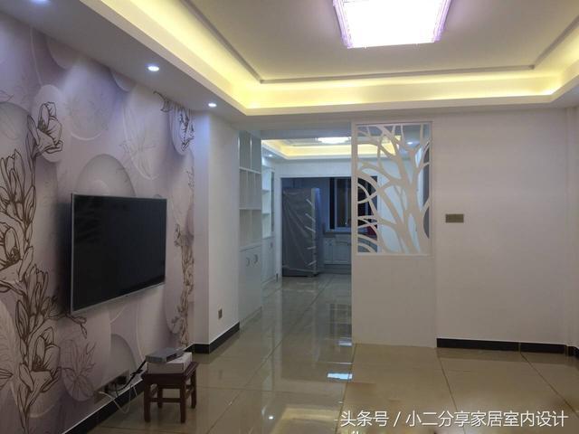 轻奢客厅电视墙一体效果图
