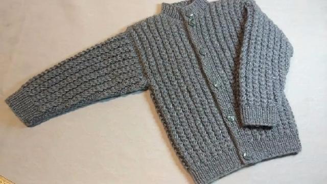 棒针编织儿童毛衣,男女宝都可以穿,简单易学