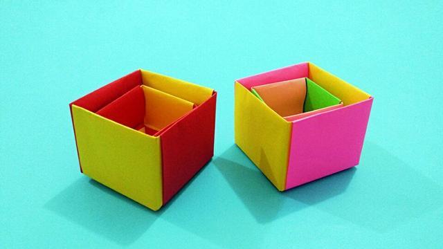 鞋盒做桌面收納盒圖解