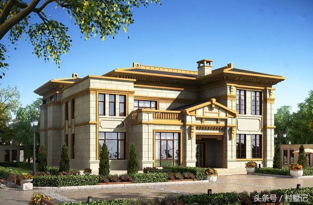 9栋农村别墅效果图,艺术造型只有懂欣赏的人才喜欢