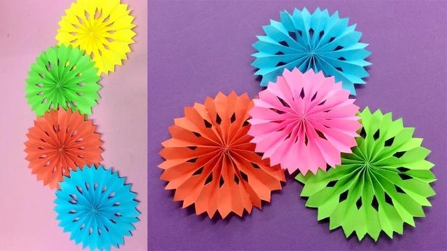 幼儿园剪纸教程:立体剪纸窗花,简单漂亮,适合小朋友的剪纸教程